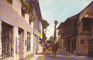 St George Street With Carriage St Augustine Florida