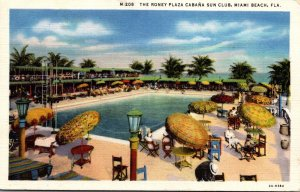 Florida Miami Beach The Roney Plaza Cabana and Sun Club 1934 Curteich