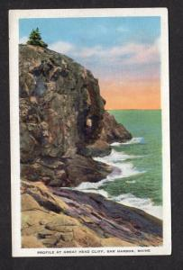 ME Great Head Cliff Acadia National Park Bar Harbor Maine Postcard Mt Desert Isl