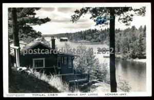 2113 - KENORA Ontario 1941 Devils Gap Lodge. Real Photo Postcard