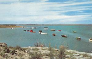 Conchas Lake New Mexico Dam Birdseye View Vintage Postcard K86417