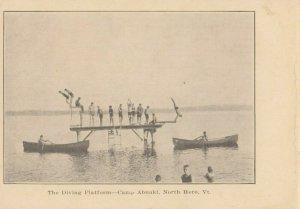 NORTH HERO , Vermont, 1900-10s ; Camp Abnaki ; The Diving Platform