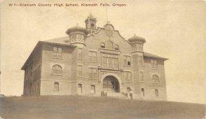 Klamath County High School Klamath Falls, Oregon Vintage Postcard ca 1910s