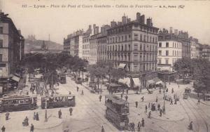Place Du Pont Et Cours Gambetta, Colline De Fourviere, Lyon (Rhone), France, ...