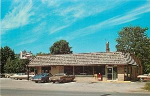 Pinconning MI~H & H Bakery & Restaurant~Newspaper Racks~1970s Gas Guzzlers