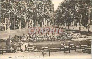 Postcard Old Vichy Park Allee Fleurie