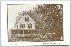 Glendale New Hampshire~Lake Winnipesaukee~Crocker's Villa~Tepee~Laundy Line~1905