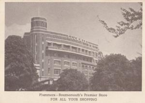 Plummers Bournemouth Department Store Antique Advertising Postcard