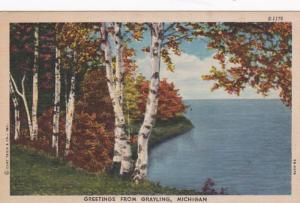 Michigan Greetings From Grayling 1953 Curteich