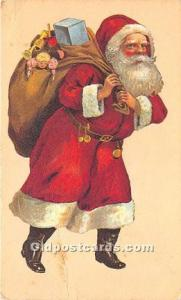 Santa Claus Postcard Old Vintage Christmas Post Card Reproduction 1980