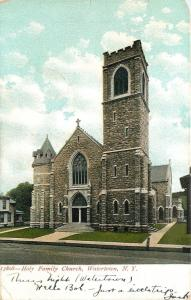 Watertown New York~Holy Family Church~House Next Door~1907