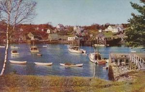 Maine Typical Maine Fishing Village