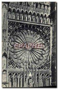 Old Postcard Strasbourg cathedral Rosette