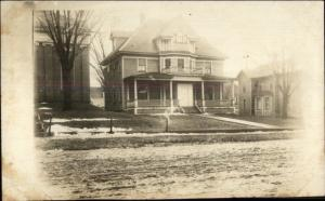 Ripley NY Presbyterian Church Parsonage c1910 Real Photo Postcard