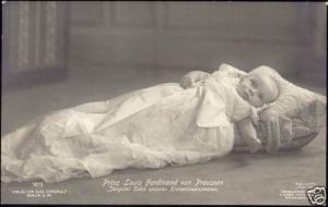 prussia, Prince Louis Ferdinand as Baby (1913) RPPC