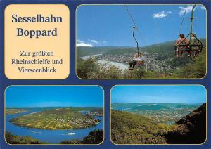 Boppard am Rhein Sesselbahn Boppard Chairlift Panorama River Boats