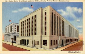 PA - Philadelphia. US Post Office, Courthouse & Federal Reserve Bldg