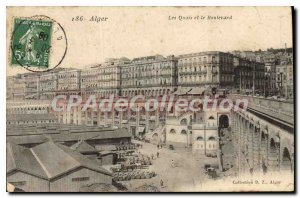 Old Postcard Alger Quays and The Boulevard