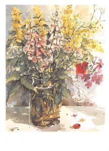 Flowers in Vase Fleurs Sommerblumen Siegfried Piechowski