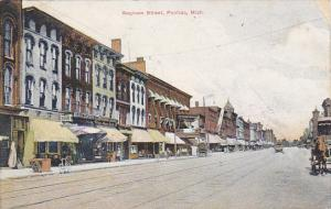Michigan Pontiac Saginaw Street 1909