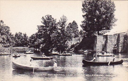Canoeing and boating, Camp Chelan, Sellersburg, Indiana, 20-30s