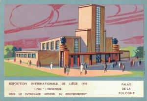 Exposition Internationale Liege 1930 Palais De La Pologne World Fair BS.03