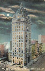 SAN FRANCISCO ,California, 1900-10s ; Call Building at night