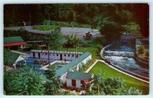 LAVA HOT SPRINGS, ID ~ Birdseye View IDAHO STATE HEALTH BATHS ca 1960s Postcard
