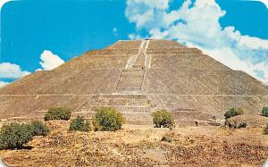 Mexico Old Vintage Antique Post Card Piramide del Sol Unused