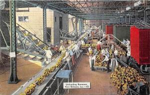 6909  LA New Orleans   Unloading Bananas into Processing Plant