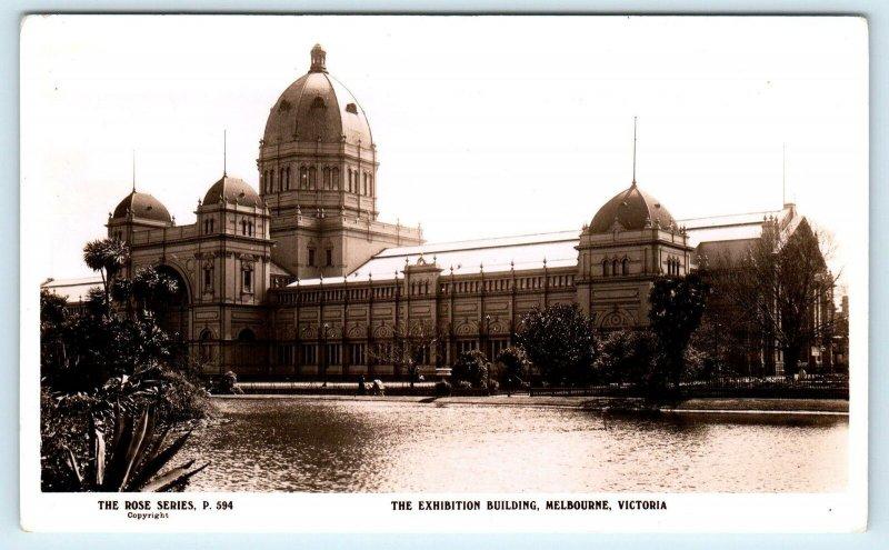 RPPC  MELBOURNE, AUSTRALIA   The  EXHIBITION  BUILDING  c1930s   Postcard
