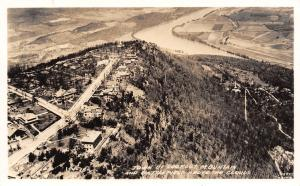 Town of Lookout Mountain Tennessee~Aerial View~T Intersection~1940 DOPS RPPC