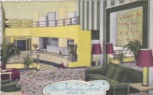 Georgia Atlanta The Atlantan Hotel 1950