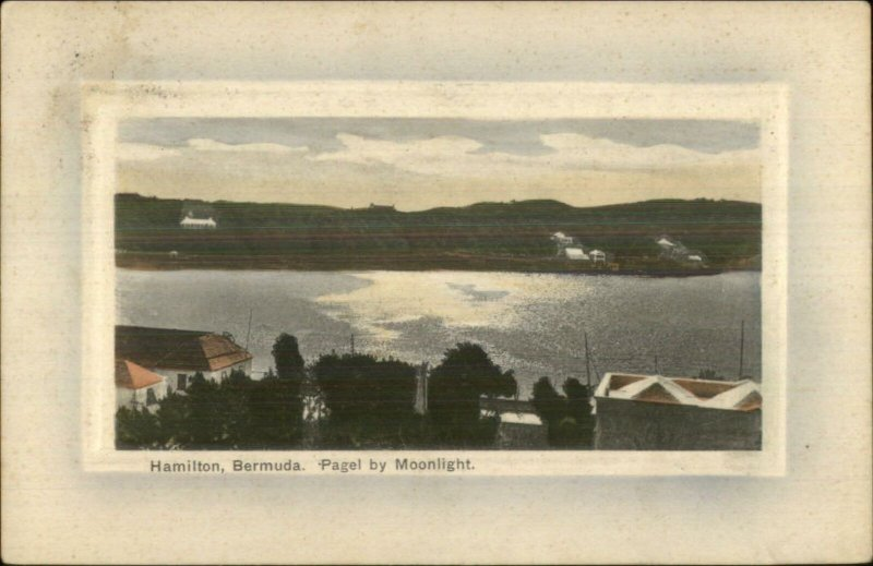 Hamilton Bermuda Paget by Moonlight c1910 Used Postcard