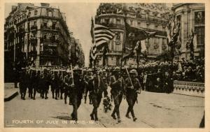 France - Paris. Fourth of July, 1918 (WWI)