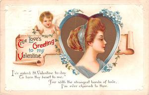 Artist Ellen Clapsaddle Valentines Day 1913 postal marking on front