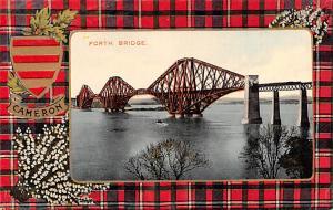Scotland, UK Old Vintage Antique Post Card Forth Bridge Cameron Unused