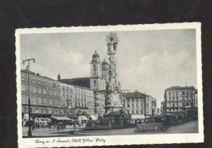 LINZ GERMANY PLATZ 1920's CARS DOWNTOWN STREET SCENE REAL PHOTO POSTCARD