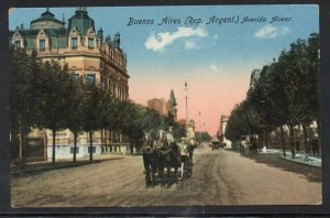 colour PC Buenos Aires Argentina used to Boston, Mass Censor marking 1918