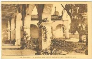 Chapel, Mission San Juan Capistranto California, 20-40s