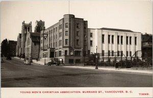 YMCA Vancouver BC Burrard Street Philip Timms Church Life RPPC Postcard F89