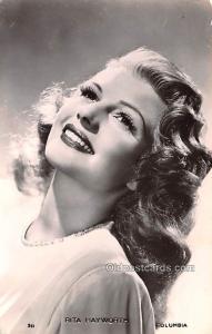 Rita Hayworth Movie Star Actor Actress Film Star Writing on back