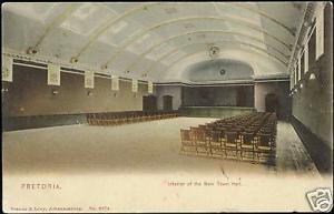 south africa, PRETORIA, Interior New Town Hall (1907)