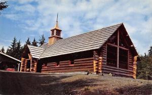 Auke Bay Alaska~Chapel by the Lake~1950s Reggie Hibshman Postcard