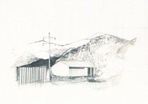 Colorado Rocky Mountain Barn Study Award Sketch Painting Postcard