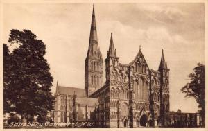 Vintage Postcard SALISBURY Cathedral N.W by Francis Frith & Co. Ltd No. 19742