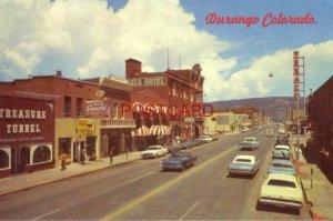 circa 1970 DURANGO, COLORADO MAIN STREET - the Strater Hotel, Treasure Tunnel
