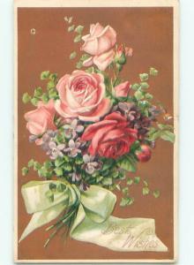 Divided-Back BEAUTIFUL FLOWERS SCENE Great Postcard AA3997