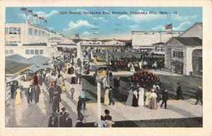 Oklahoma City Fair Grounds Sight Seeing Crowd Scene Antique Postcard K12883