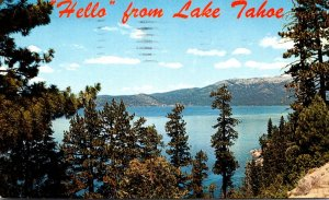 California Lake Tahoe Hello 1964